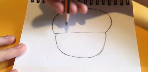 Джин из Brawl Stars карандашом 1