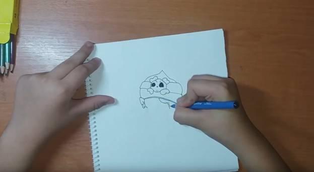 Джин-Пират из Brawl Stars карандашом 2