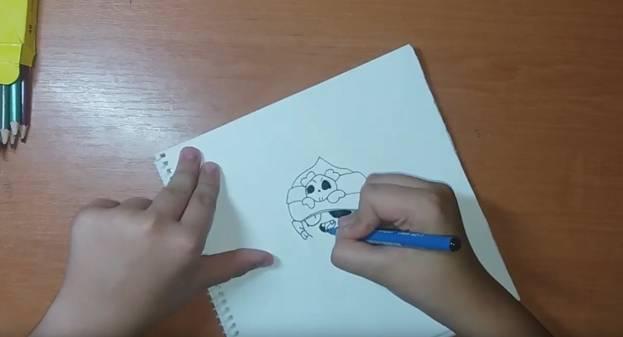 Джин-Пират из Brawl Stars карандашом 3