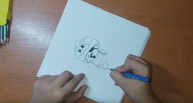 Джин-Пират из Brawl Stars карандашом 4