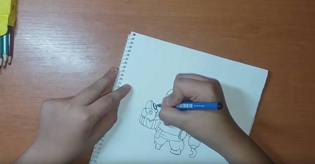 Джин-Пират из Brawl Stars карандашом 6
