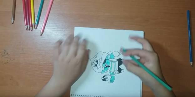 Джин-Пират из Brawl Stars карандашом 8