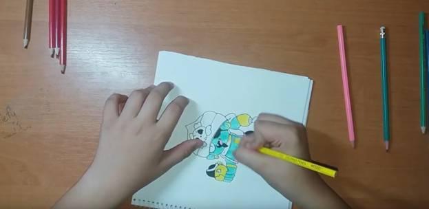 Джин-Пират из Brawl Stars карандашом 9