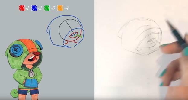 Леон карандашом 4