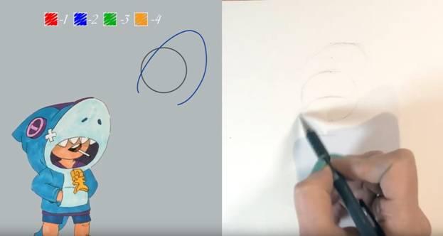 Леон карандашом акула 2