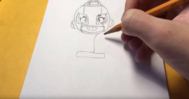 Макс из бравл старс карандашом 5