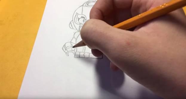Макс из бравл старс карандашом 6