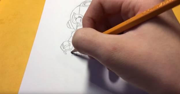 Макс из бравл старс карандашом 7