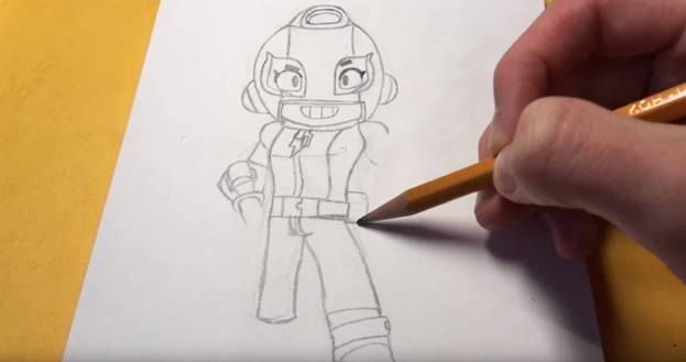 Макс из бравл старс карандашом 8