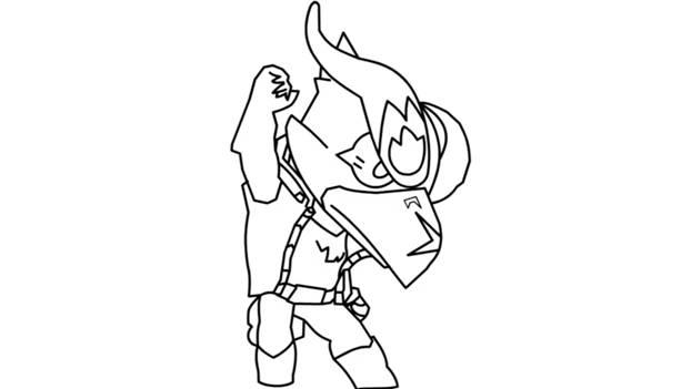 Ворон-феникс из Brawl Stars фломастером 9