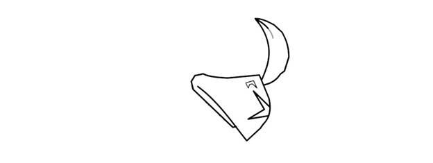Ворон-феникс из Brawl Stars фломастером 2
