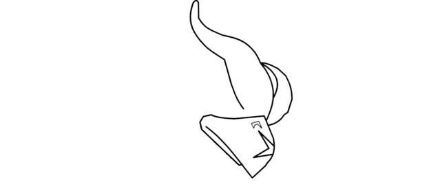 Ворон-феникс из Brawl Stars фломастером 3