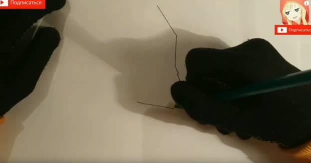 Ворон-меха из Brawl Stars карандашом 1