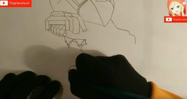 Ворон-меха из Brawl Stars карандашом 5