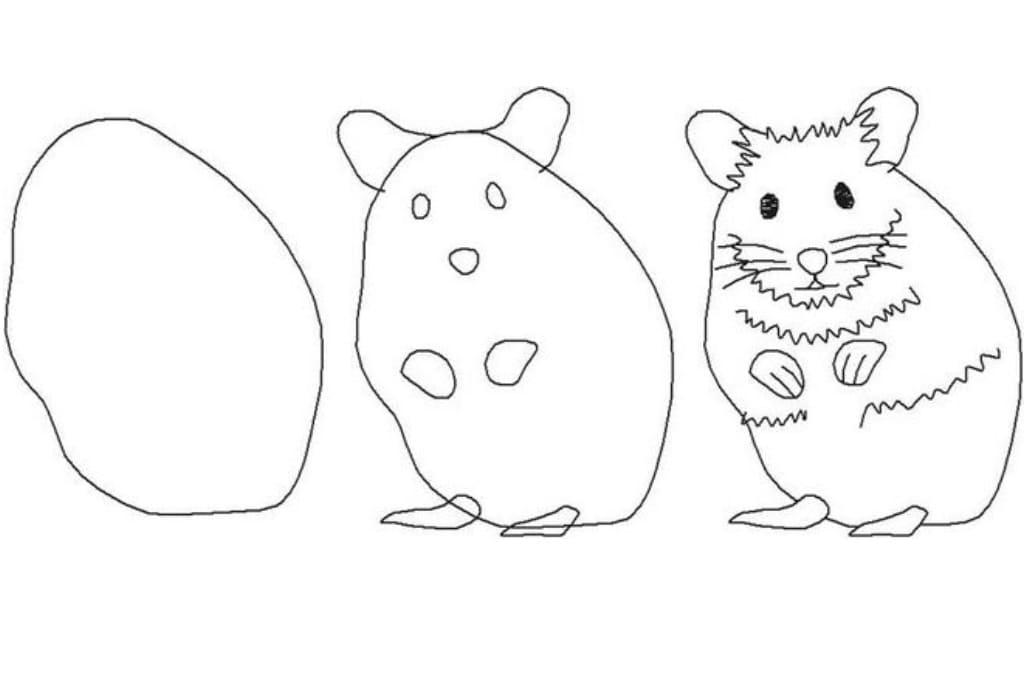 картинки хомяков джунгариков нарисовать андрей серьезно