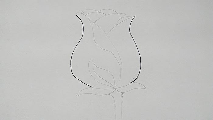 Бутон розы 1