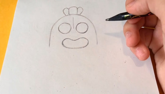 Обычный Спайк карандашом