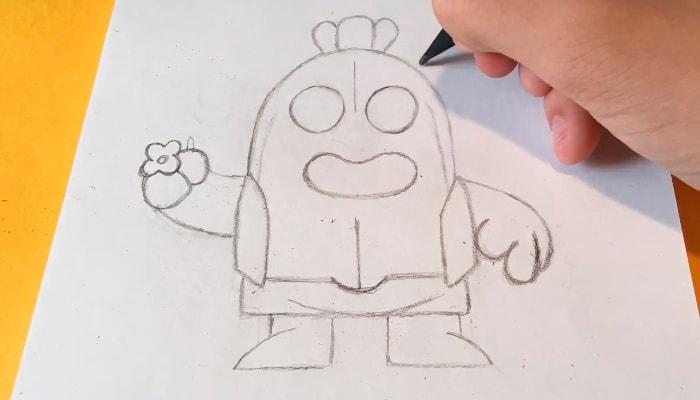 Обычный Спайк карандашом 2