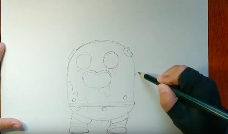 Робоспайк карандашом 1