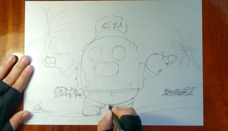 Робоспайк карандашом 3