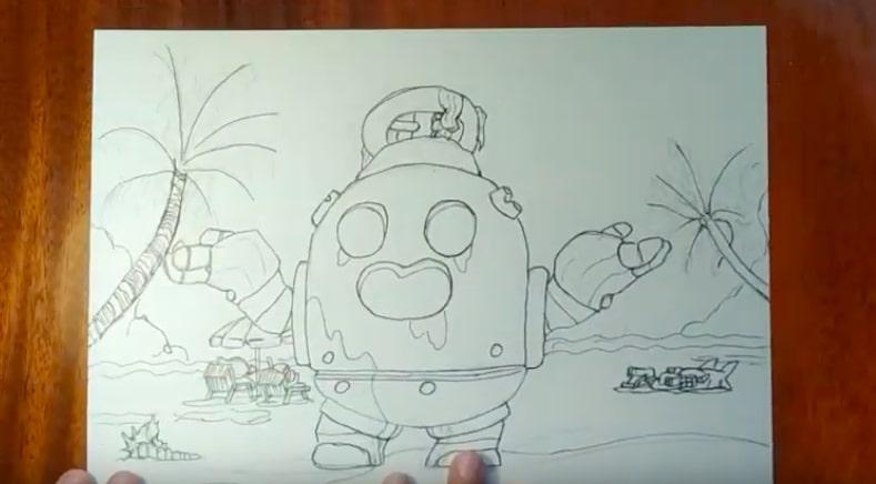 Робоспайк карандашом 4